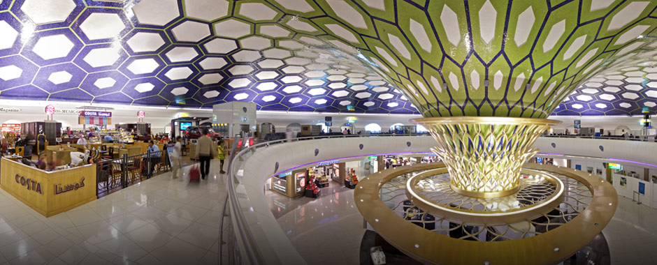Abu dhabi airport crosses passenger landmark for International decor company abu dhabi